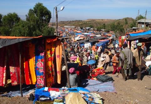 the Lalibela Saturday market