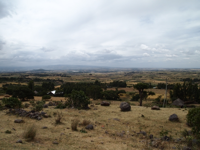 the landscape south of Addis Ababa