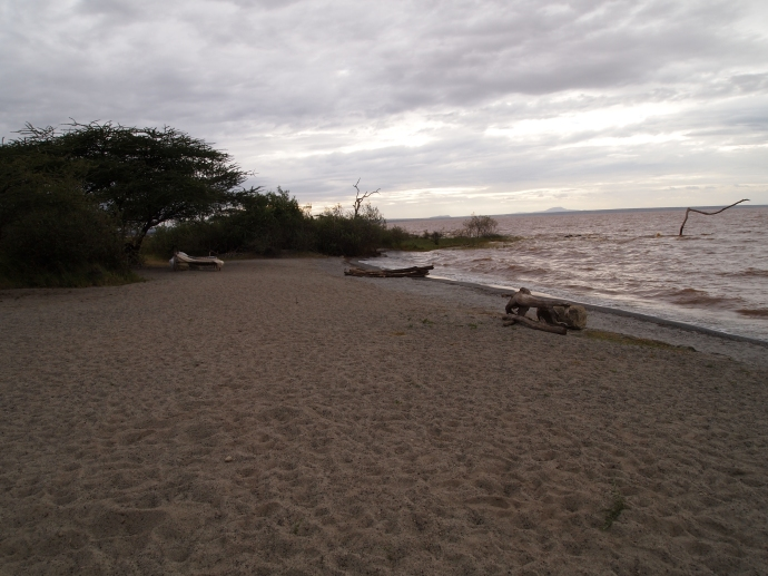 the beach at Bishangari Lodge
