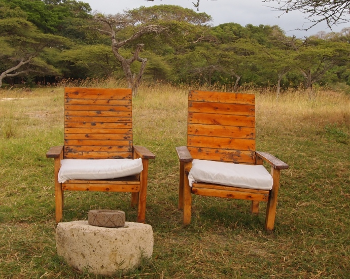chairs near the beach for lake viewing