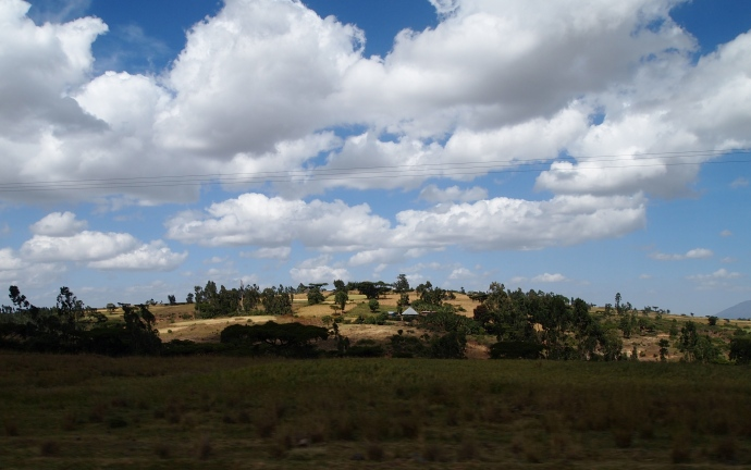 scenery on the drive back to Addis