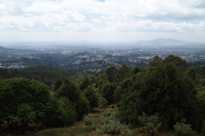 the view of Addis Ababa from the Entoto Mountains