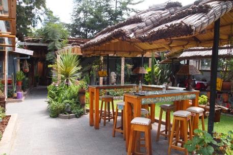 the patio garden of the Lucy Gazebo Restaurant