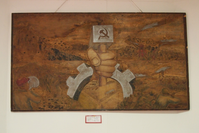 one of the paintings in the art gallery on the 1st floor