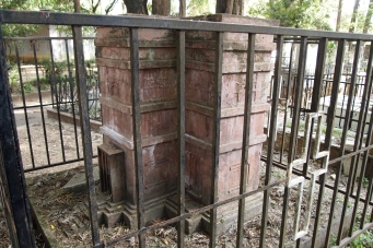 this memorial is in the shape of Bet Giyorgis from Lalibela