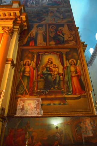 beautiful murals inside the Cathedral