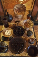 pottery and baskets