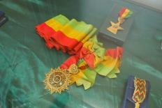 his medals
