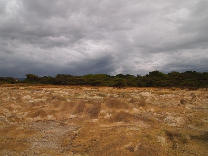 dramatic pumice landscape